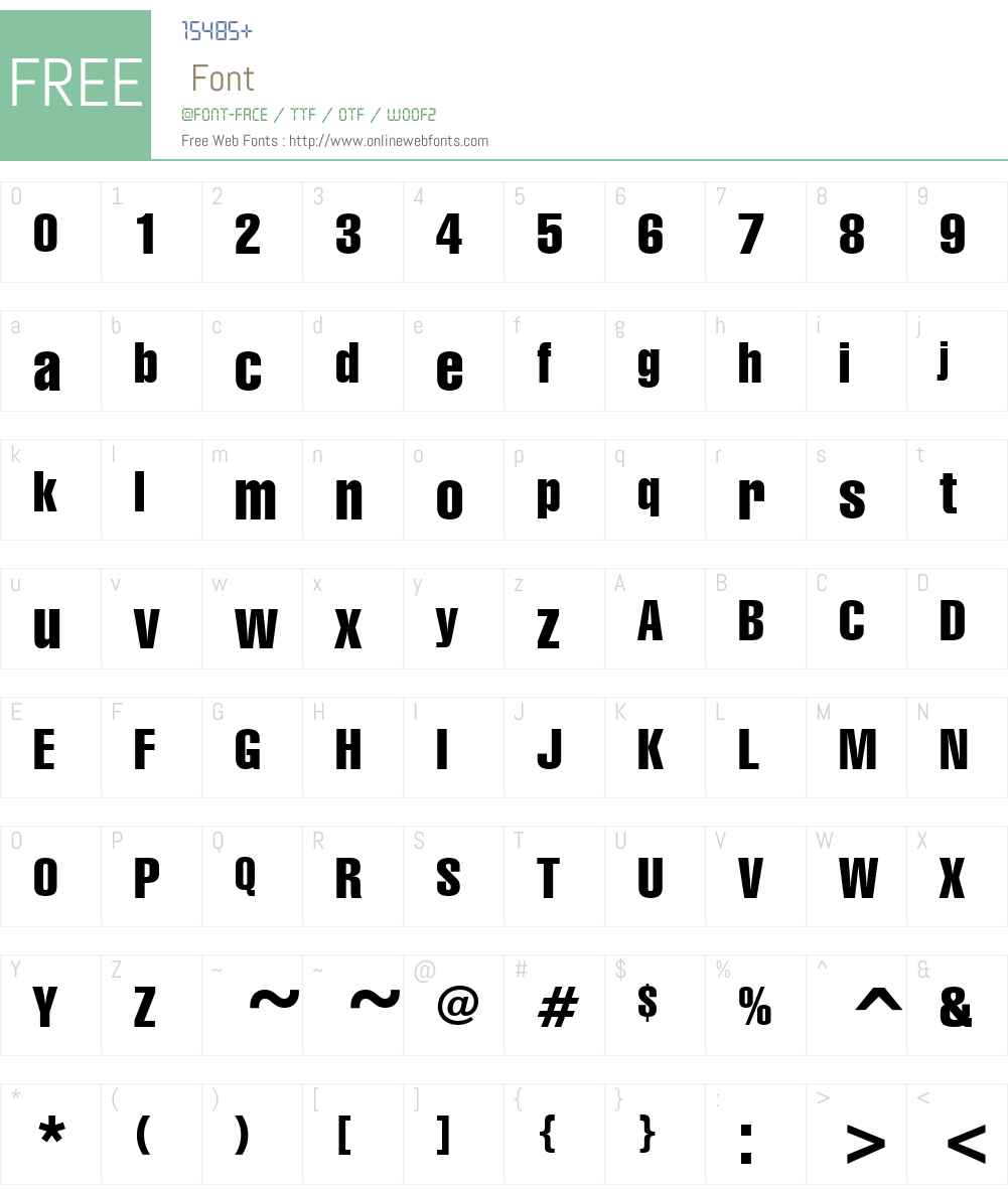 GenevaCndn Font Screenshots