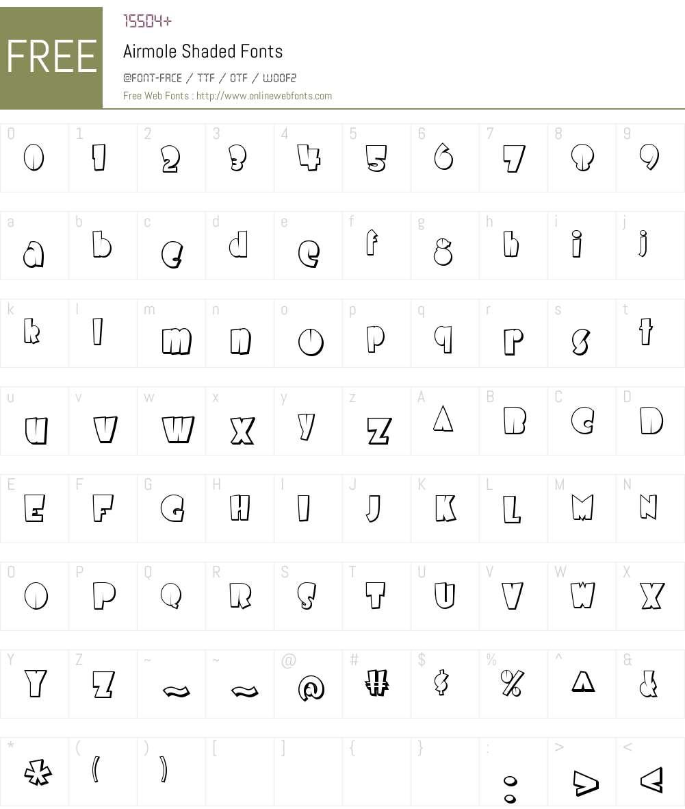 Airmole Shaded Font Screenshots