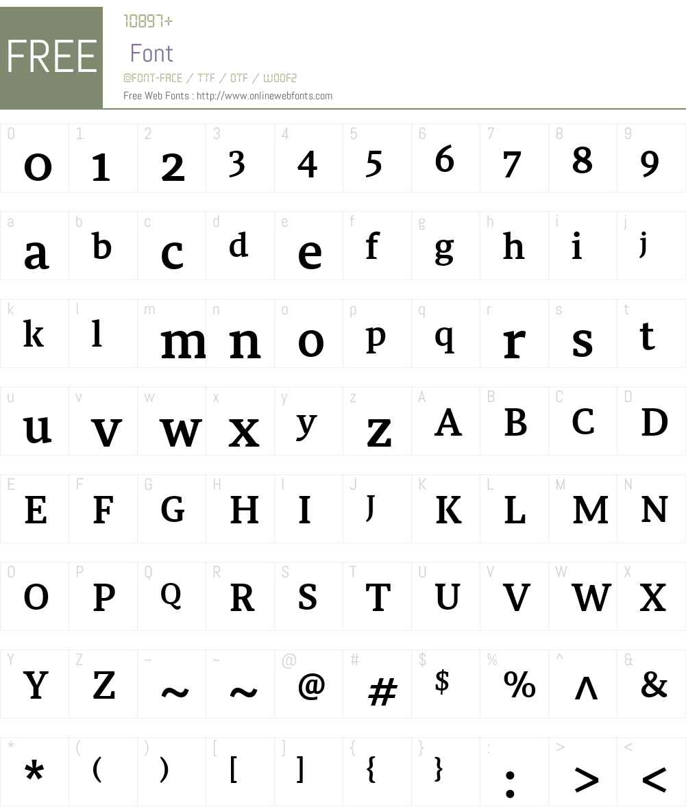Tarsus Font Screenshots