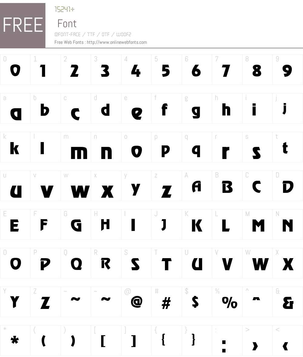 Revel Font Screenshots