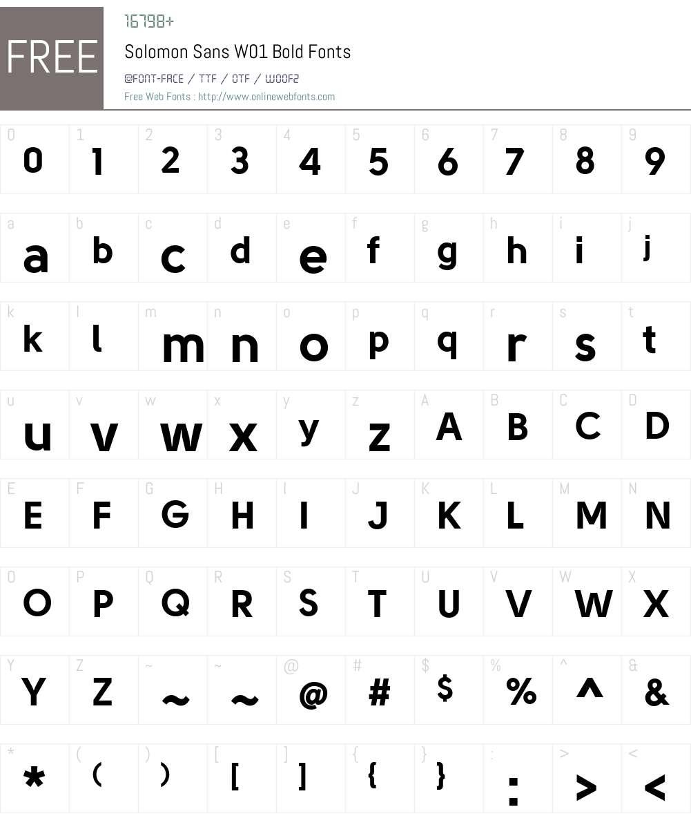 SolomonSansW01-Bold Font Screenshots