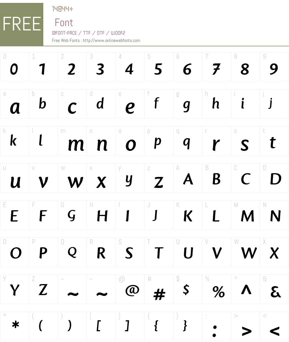 Mantika Informal Font Screenshots