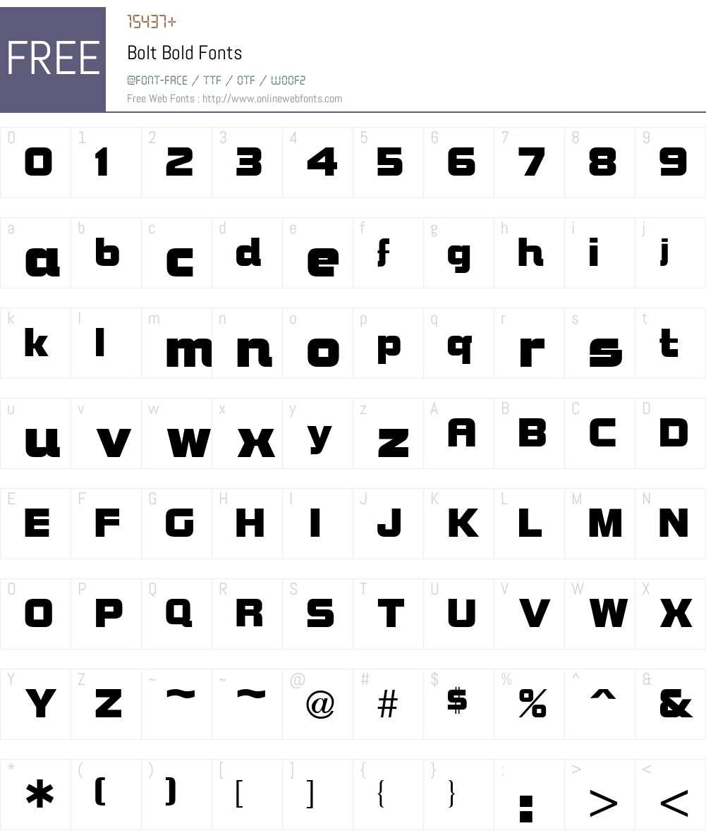 Bolt Font Screenshots