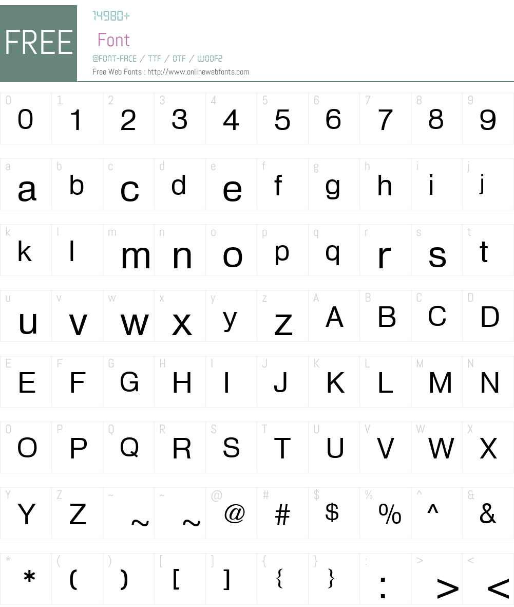 HeldustryW00 Font Screenshots