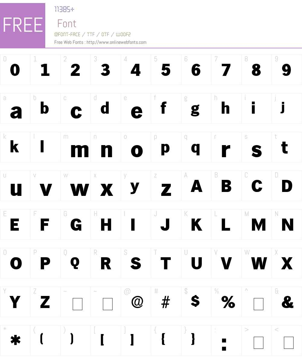 Hiero Display SSi Font Screenshots