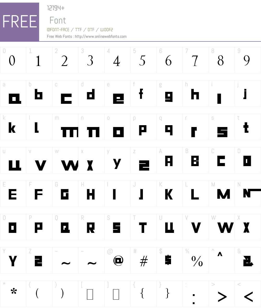 Niiiii-trous Font Screenshots