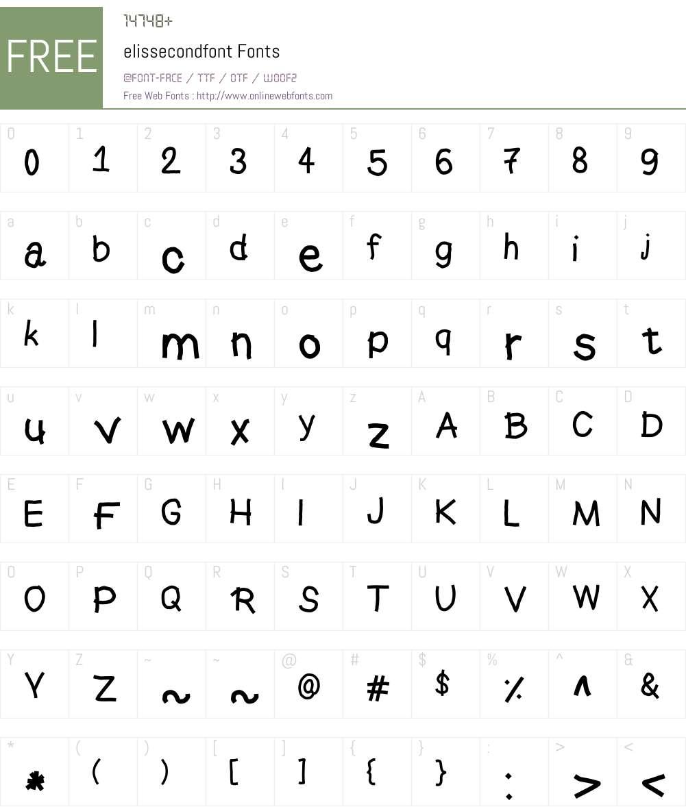 elissecondfont Font Screenshots