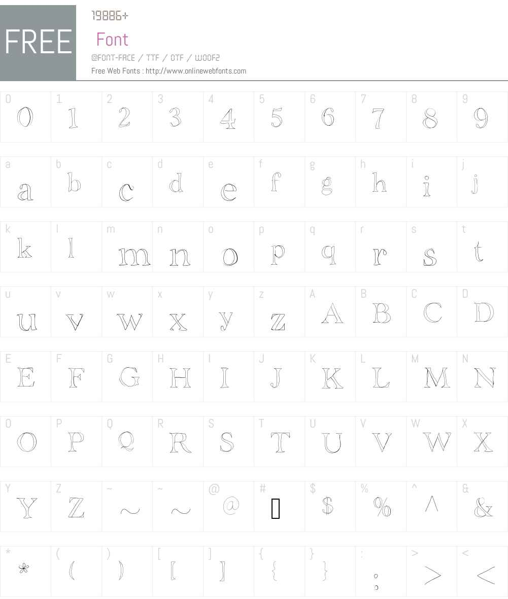 BDGrenoble Font Screenshots