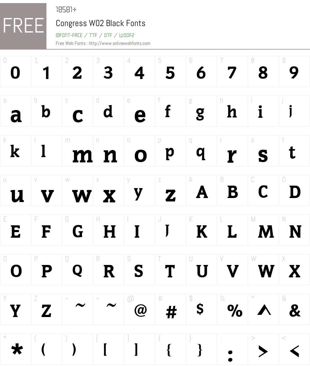 Congress Font Screenshots