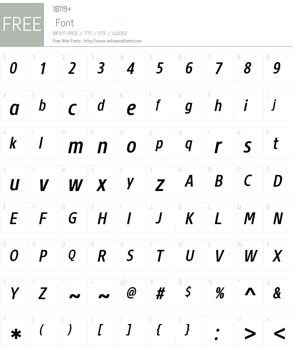 CoreSansNRW01-57CnMdIt Font Screenshots