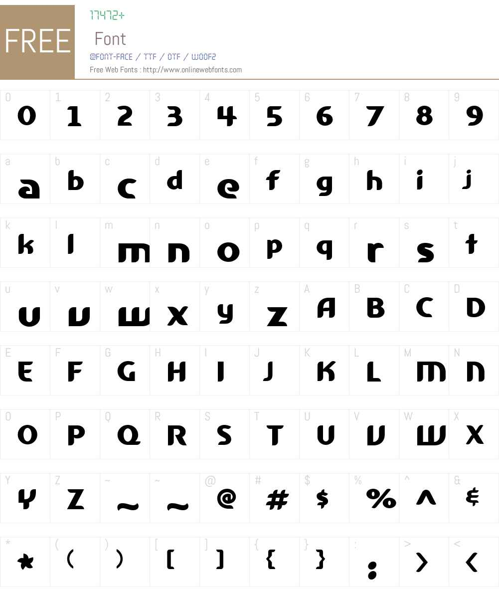FargonW00-Black Font Screenshots