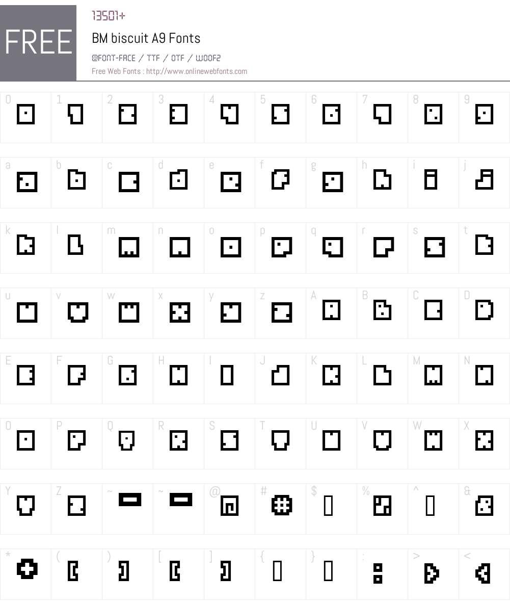 BM biscuit Font Screenshots