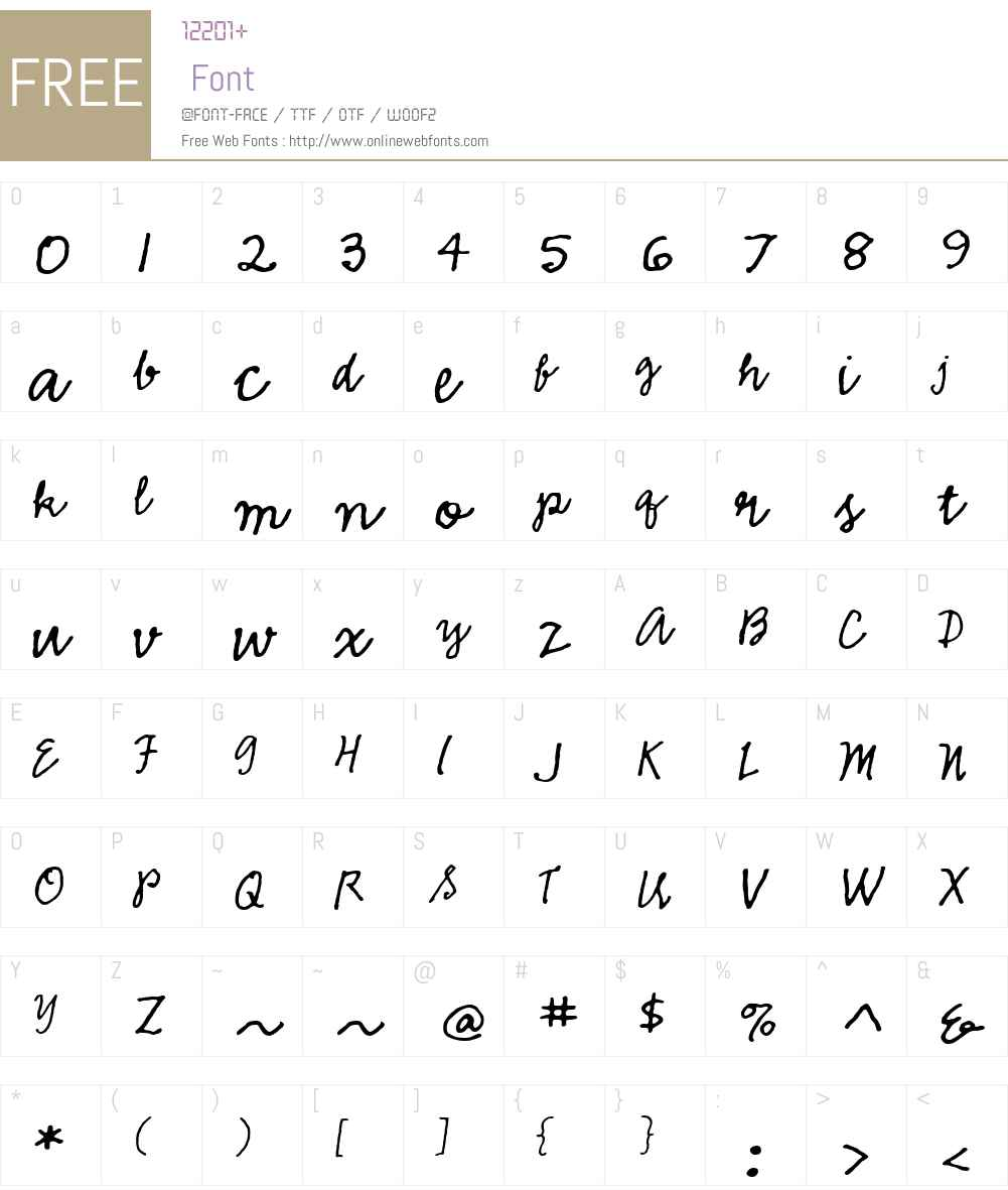 EmmascriptMVB Font Screenshots