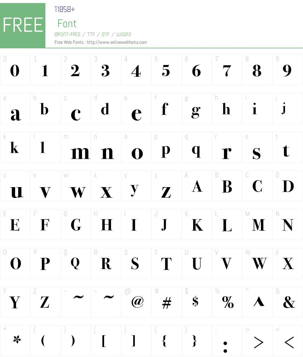 Bodoni Seventytwo ITC Font Screenshots