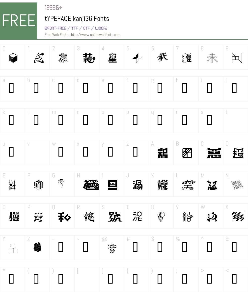 tYPEFACE Font Screenshots
