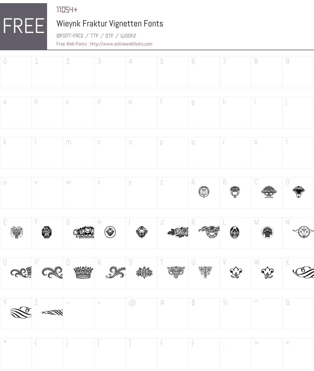 Wieynk Fraktur Font Screenshots