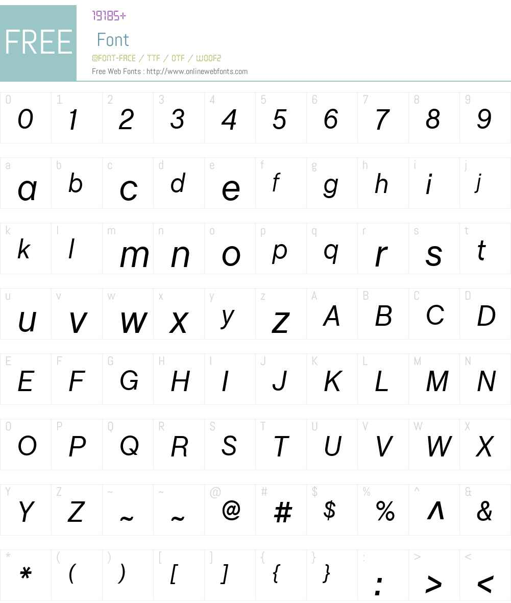 ChaletBookTT Font Screenshots