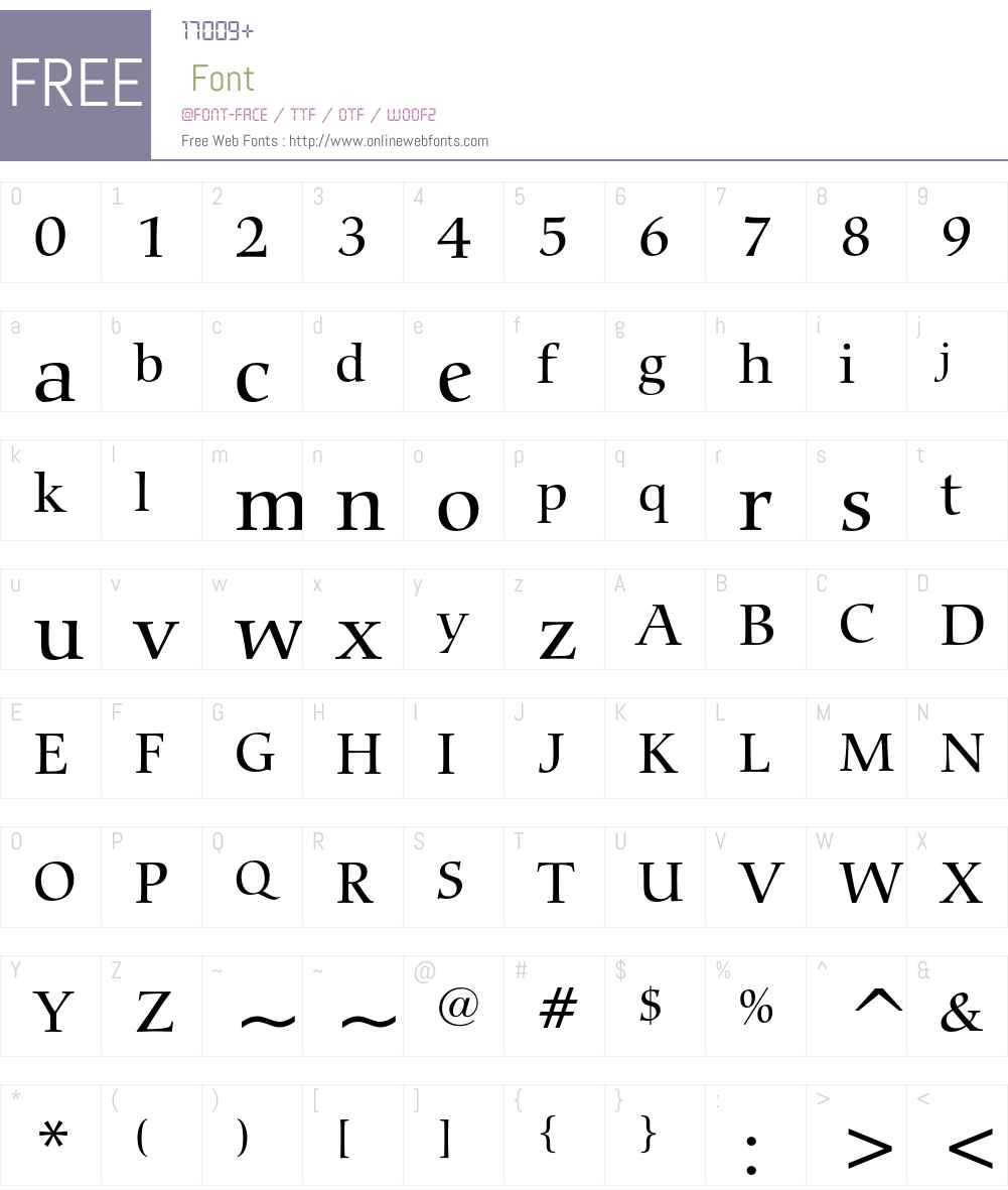 Bitstream Carmina Font Screenshots