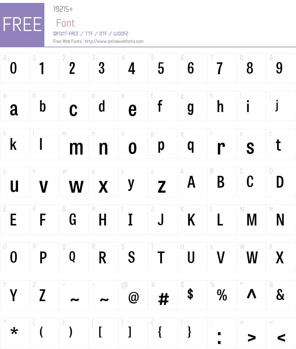 TabletGothicCondensedW01-SB Font Screenshots