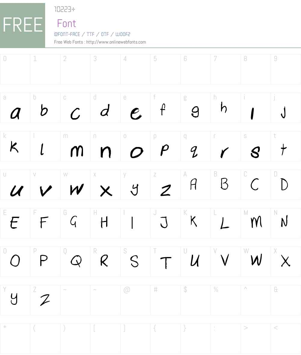 Dewald Font Screenshots