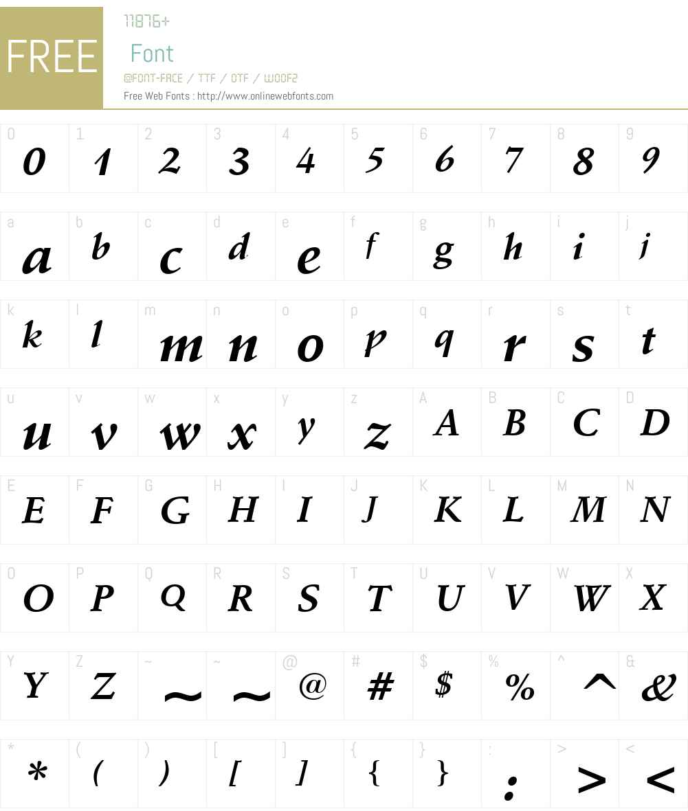 SchneidlerW01-BoldItalic Font Screenshots