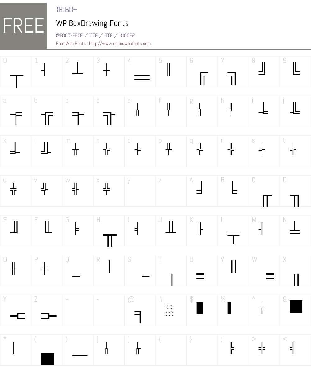 WP BoxDrawing Font Screenshots