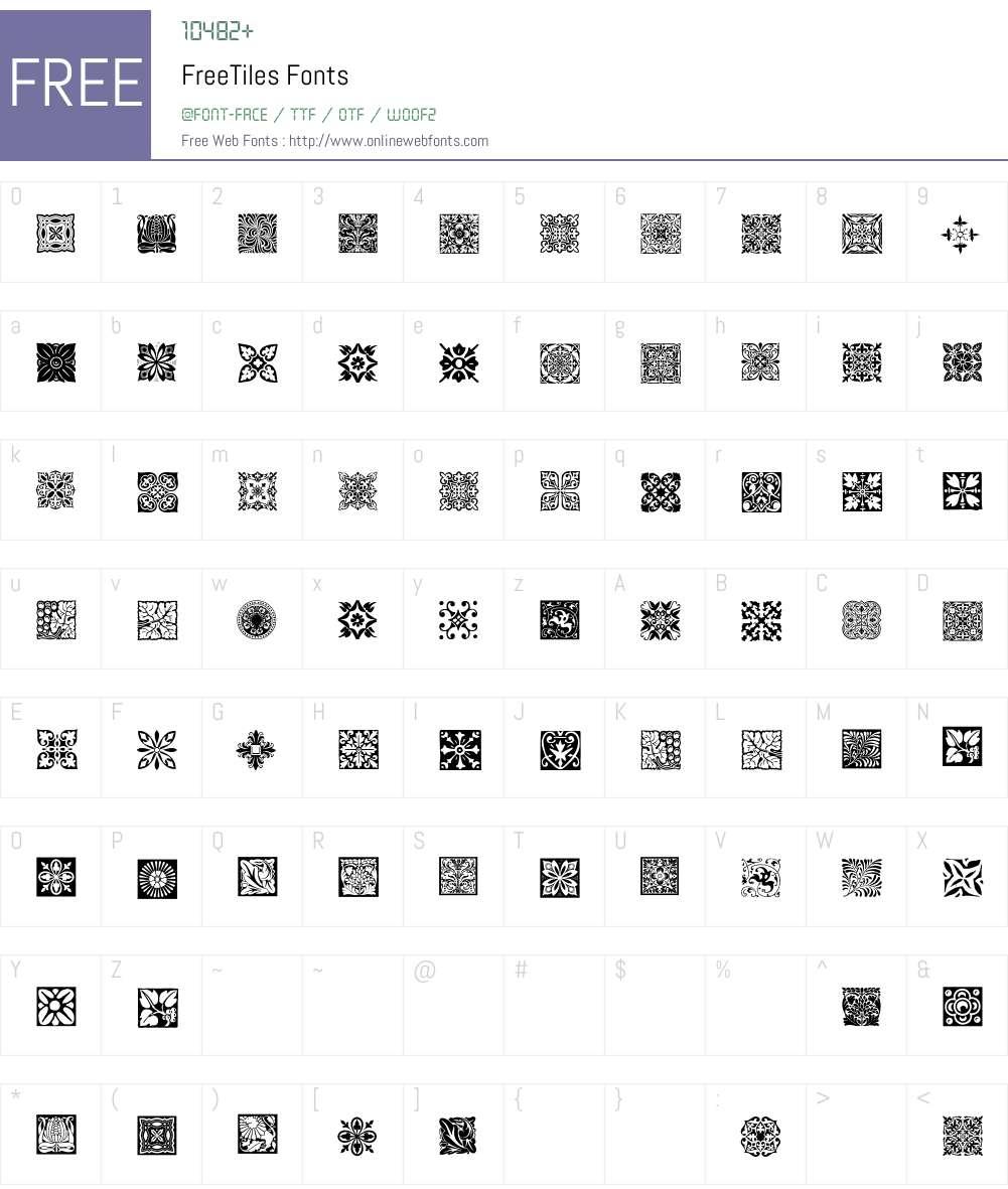 FreeTiles Font Screenshots