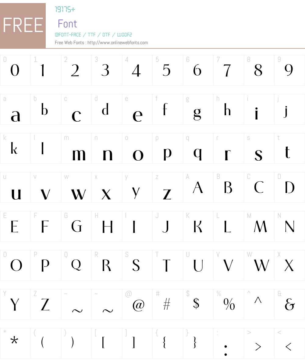 Cotoris Font Screenshots