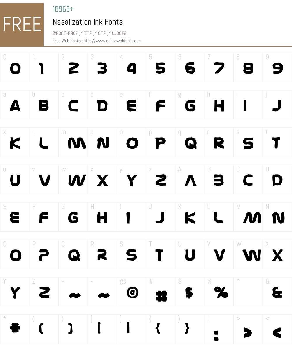 Nasalization Ink Font Screenshots