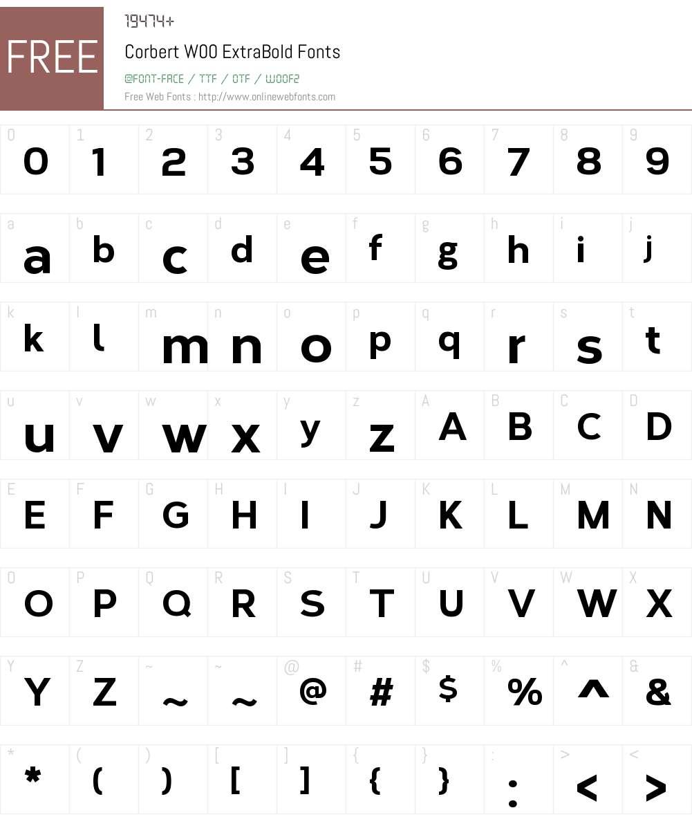 CorbertW00-ExtraBold Font Screenshots