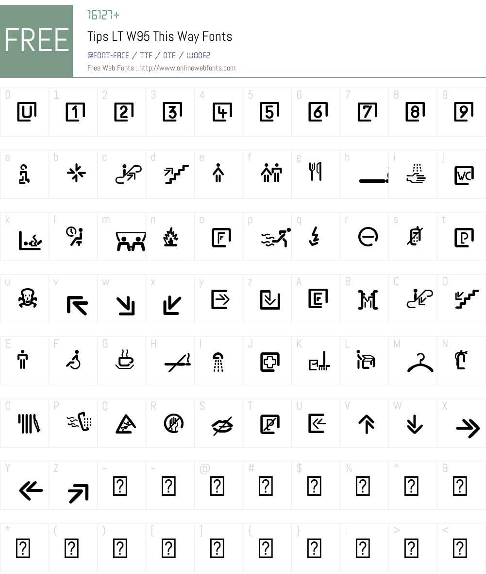 TipsLTW95-ThisWay Font Screenshots