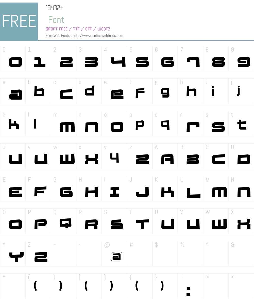 FatsansRotated Font Screenshots