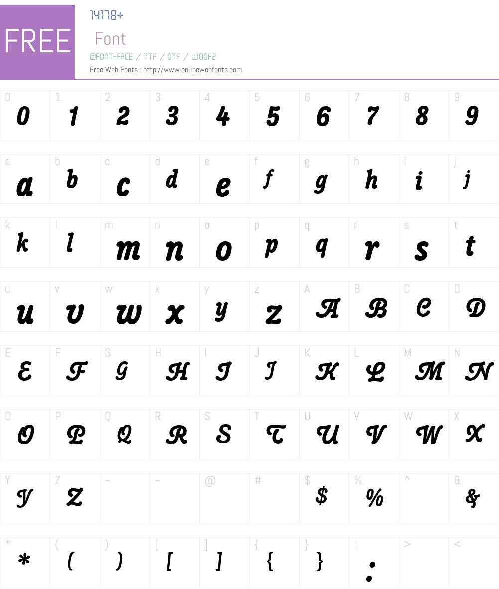 Poppl-College Two BQ Font Screenshots
