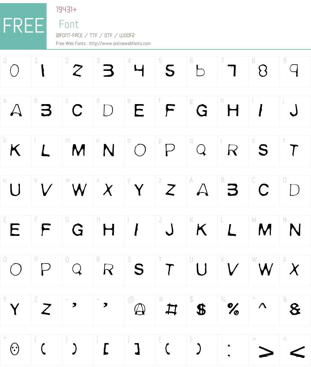 Meiry Font Screenshots