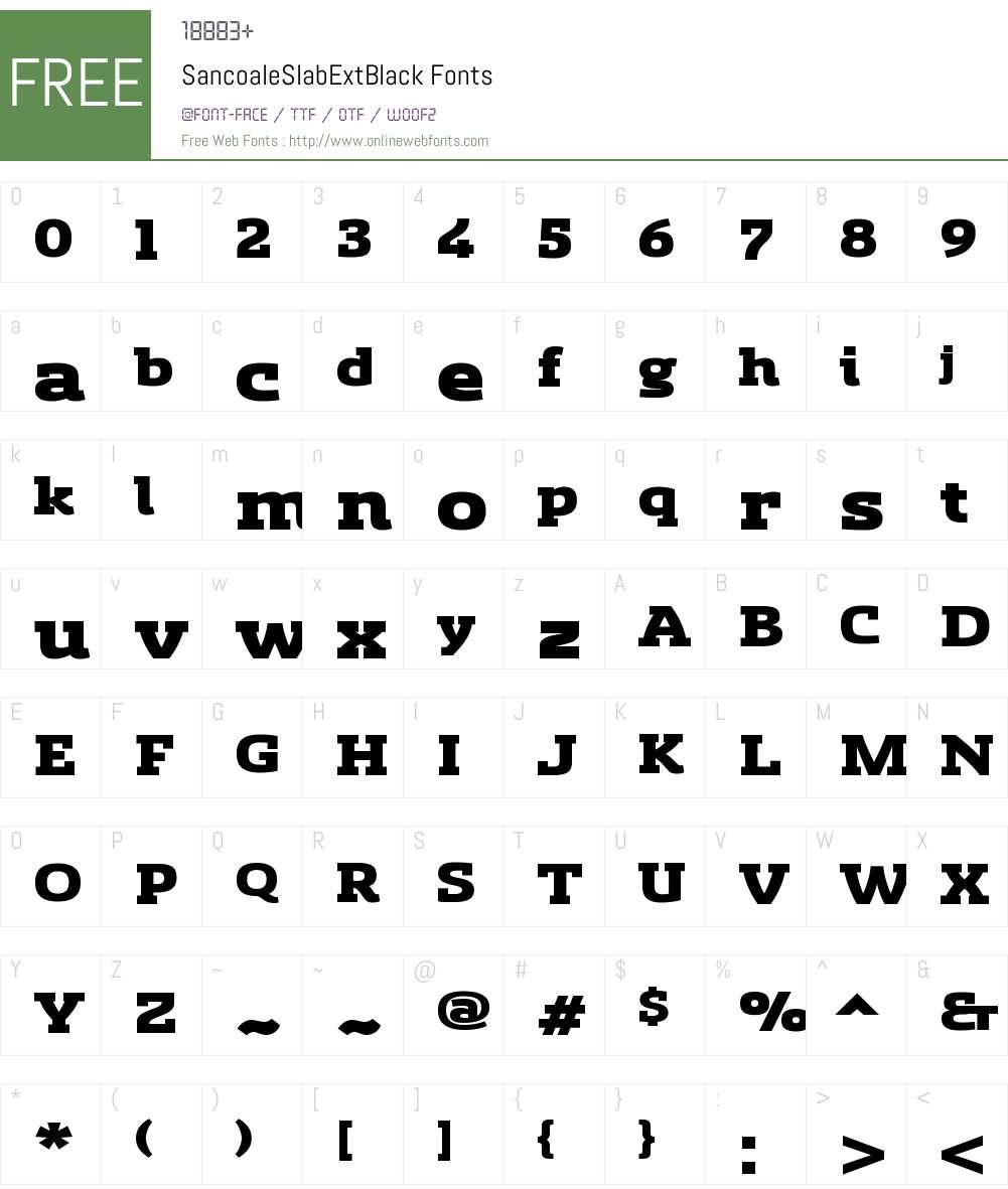 Sancoale Slab Ext Black Font Screenshots