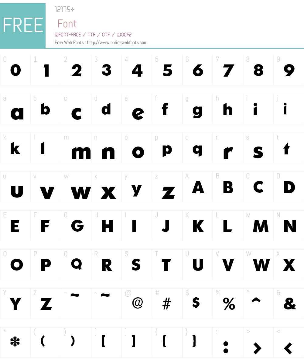 Ornitons-Bold Font Screenshots