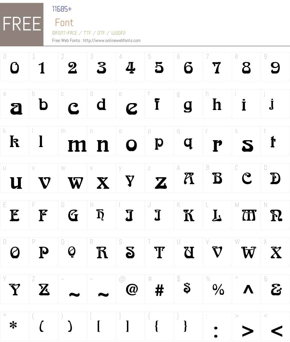 Arnold Boecklin Font Screenshots