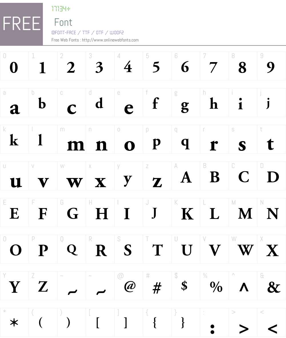 Adobe Garamond Font Screenshots