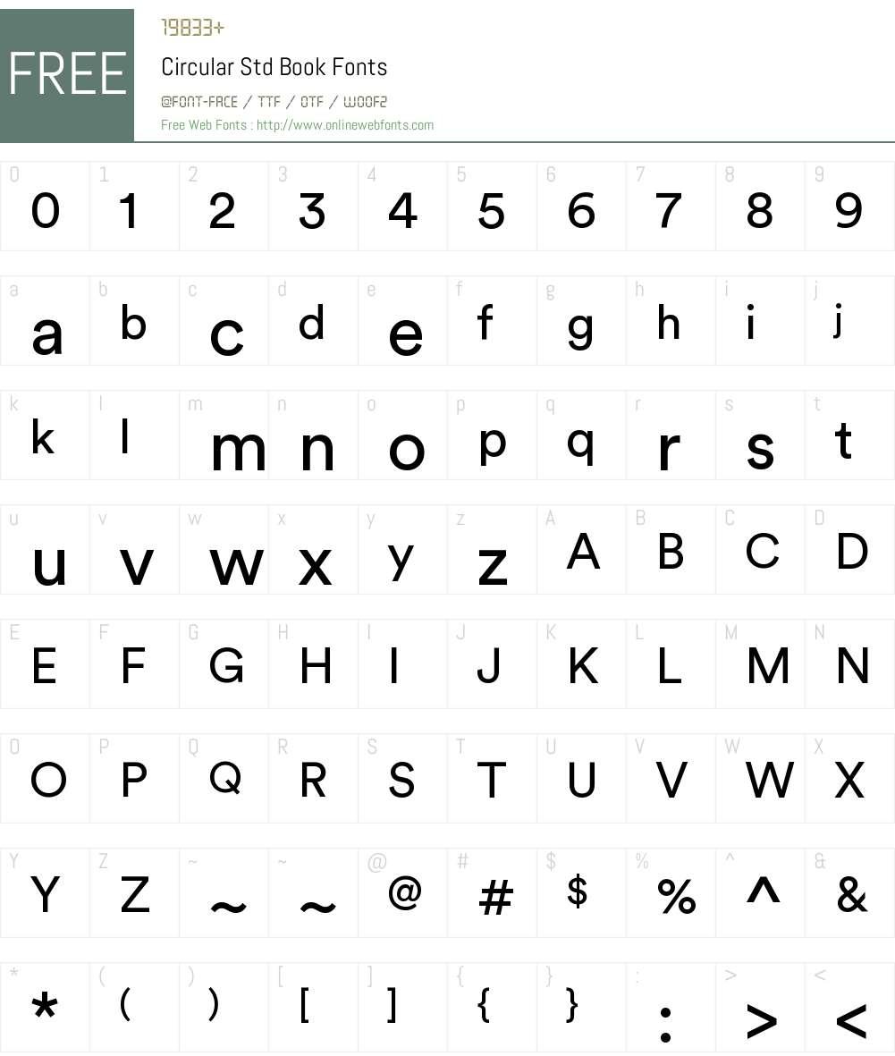 Circular Std Book Font Screenshots