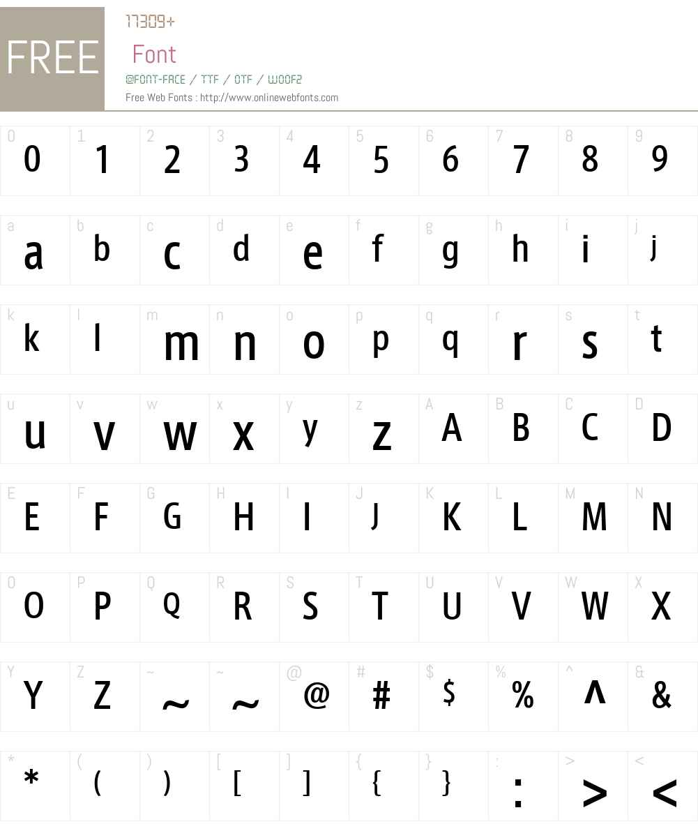 AxisLatinCondPro-Medium Font Screenshots