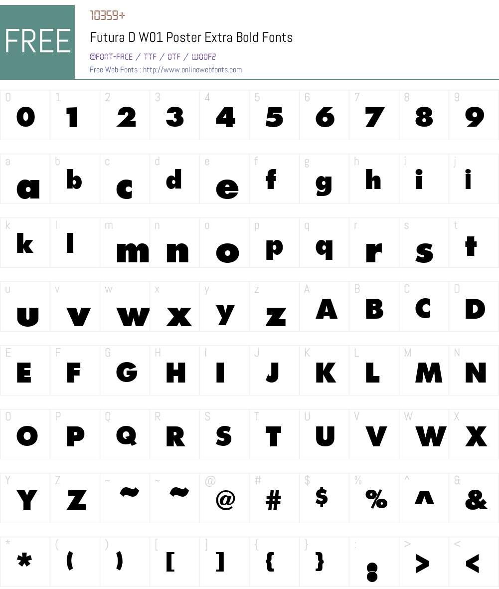 FuturaDW01-PosterExtraBold Font Screenshots
