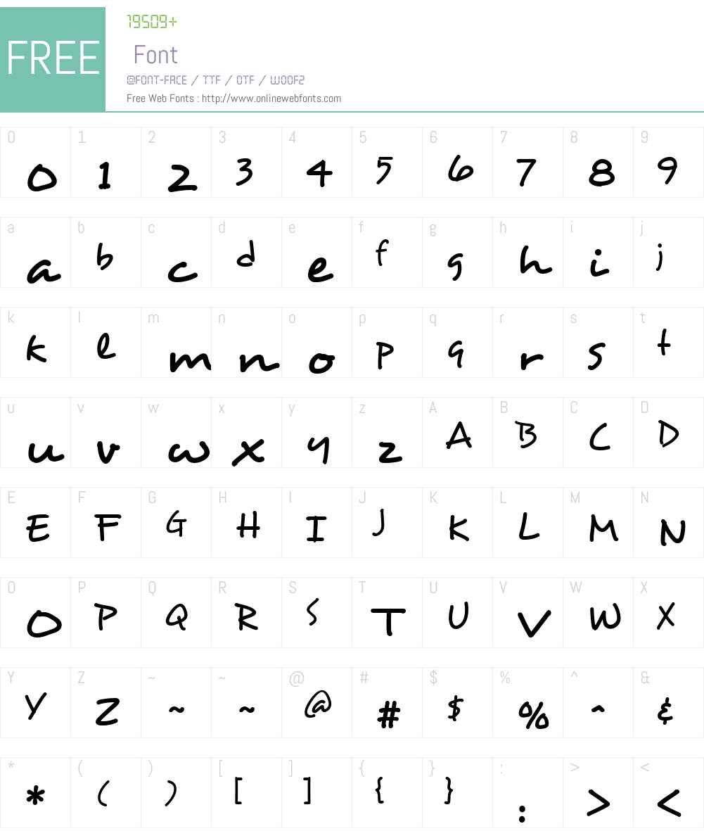 Desyrel Font Screenshots