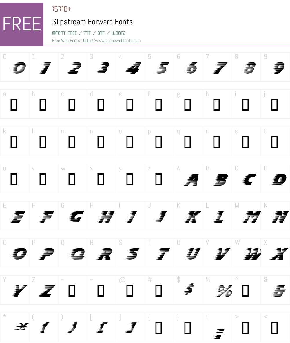Slipstream Font Screenshots