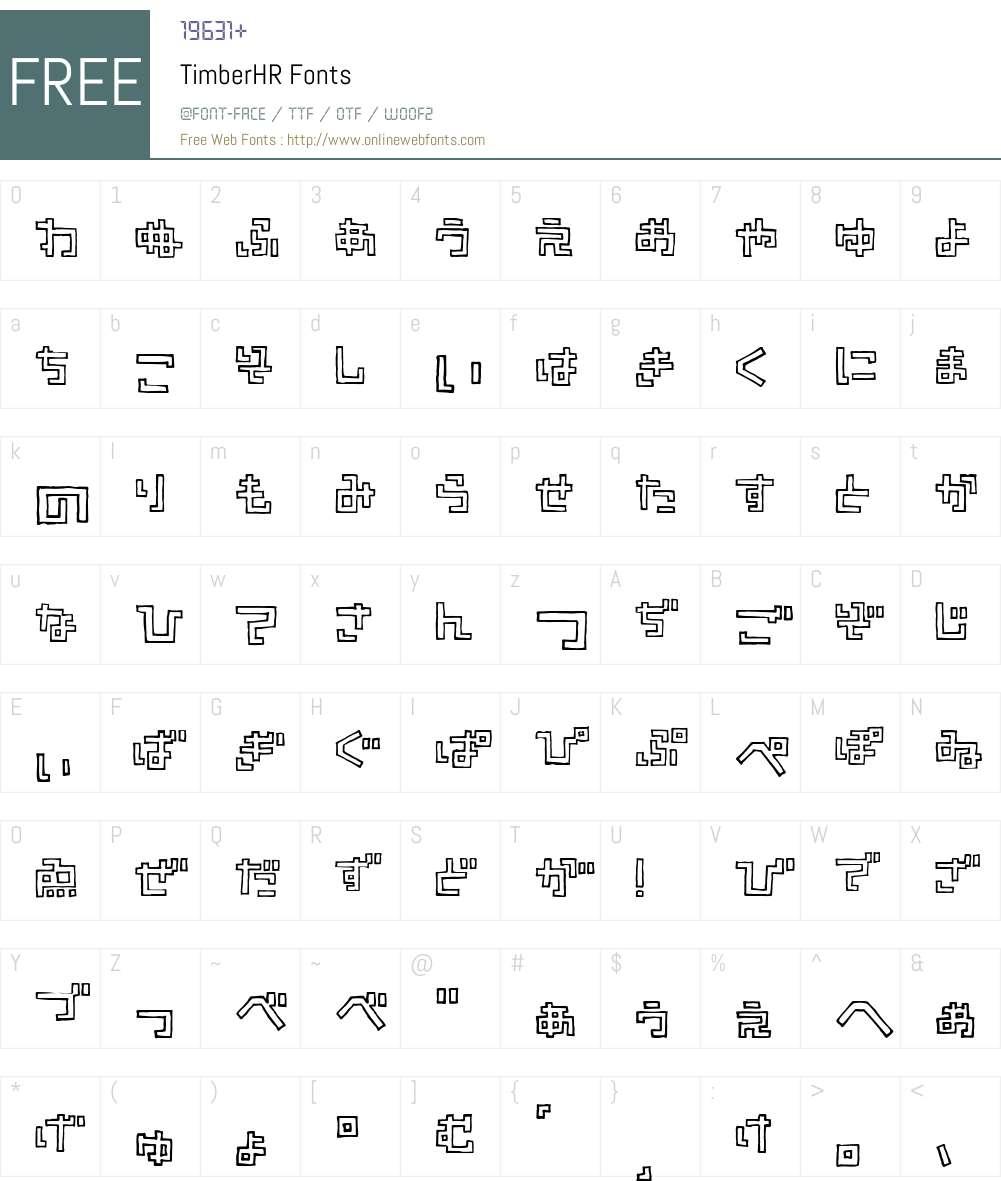 TimberHR Font Screenshots