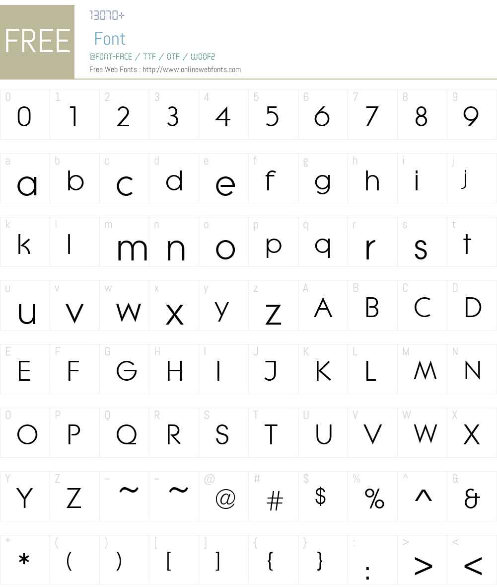 Litera D Font Screenshots