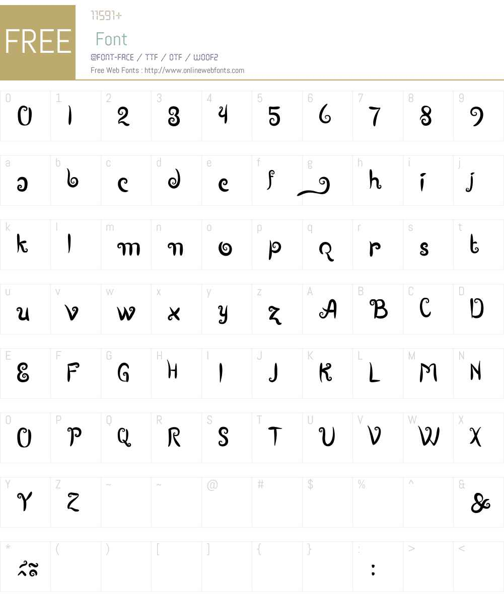 Boutiques of Merauke Font Screenshots