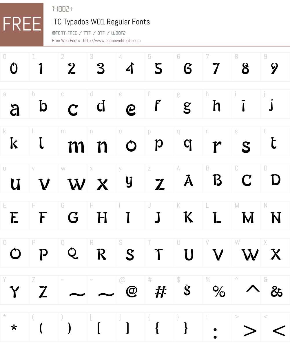 ITCTypadosW01-Regular Font Screenshots