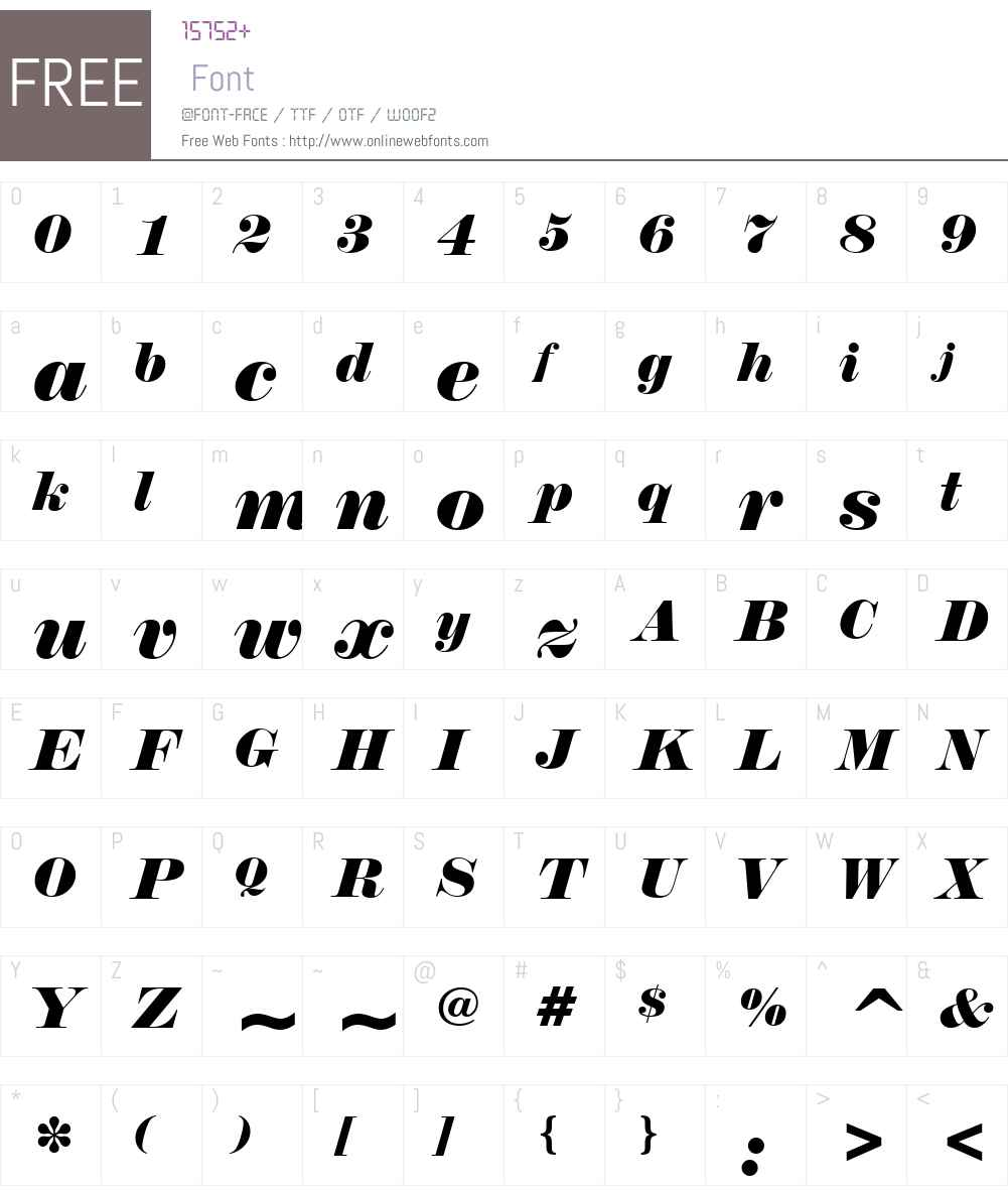 Normande Font Screenshots
