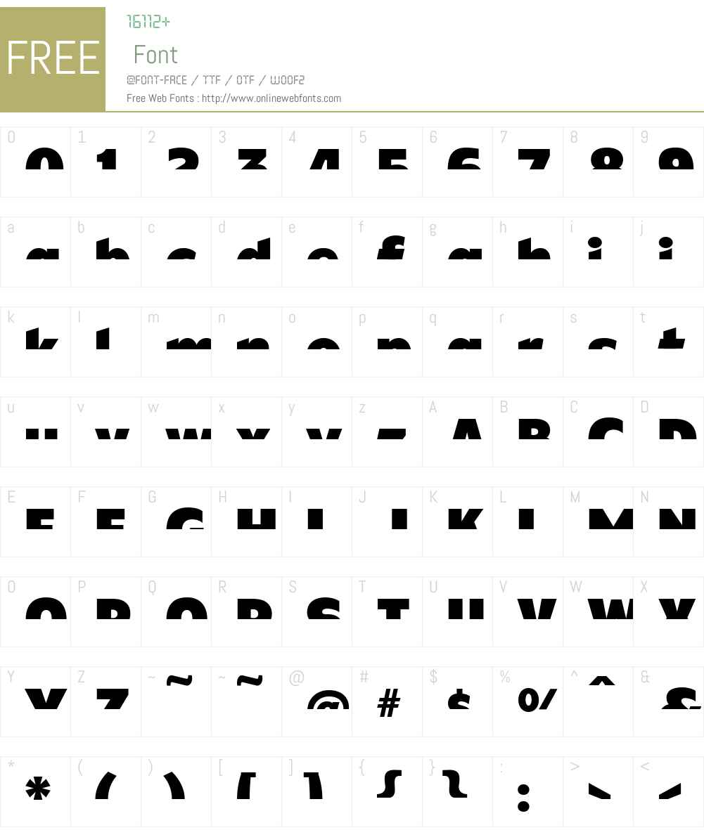 CFB1ShieldedAvengerSPANGLE1W00-It Font Screenshots
