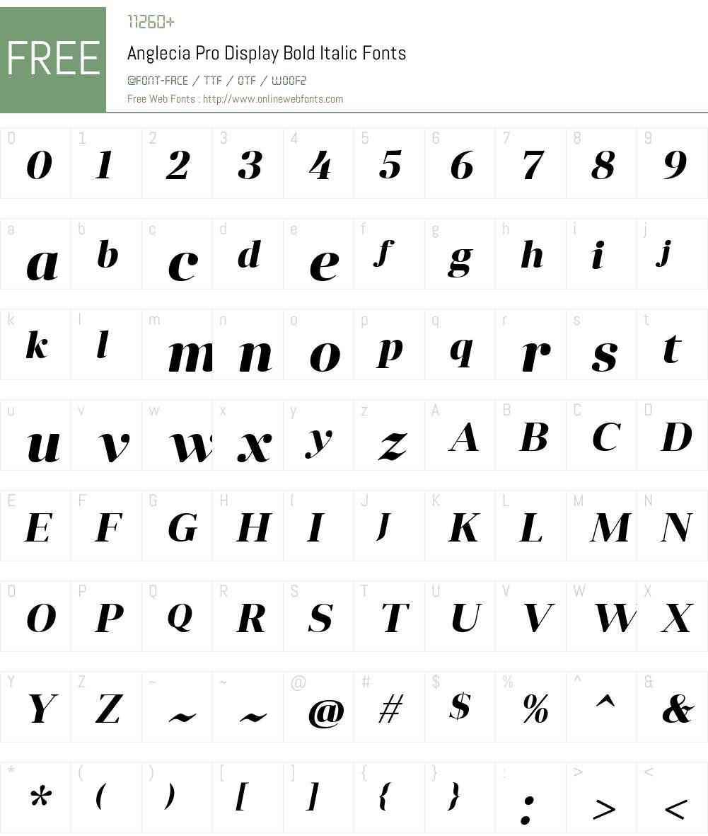 Anglecia Pro Dsp Font Screenshots
